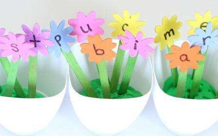 Planting Flowers Alphabet Activity social
