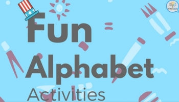 Fun alphabet activities. Set #1